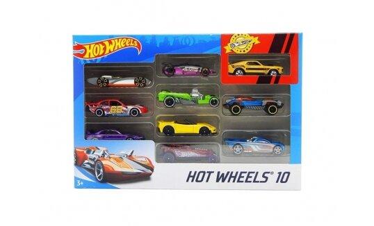 הוט ווילס 10 מכוניות באריזה