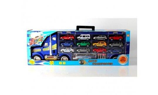 משאית ענקית אורקולית נושאת 12 מכוניות