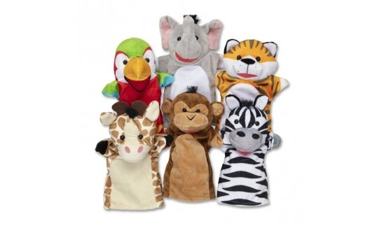 סט בובות יד גן החיות