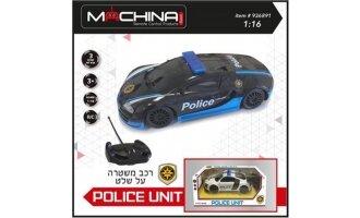 מכונית משטרה 1:16 אורות